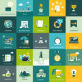 Flat designed business and marketing concepts design can be used as icons for web banners backgrounds web templates presentations Royalty Free Stock Photo
