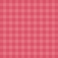 Flat easy tilable red gingham repeat pattern print Royalty Free Stock Photo