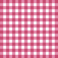 Flat easy tilable red and white gingham pattern Royalty Free Stock Photo