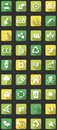 Flat eco icons Royalty Free Stock Image