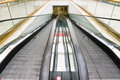 Flat escalators moving Royalty Free Stock Photo