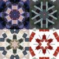 Flat ethnic seamless patterns.