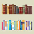 Flat Filtered Design Books Royalty Free Stock Photo