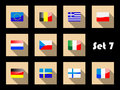 Flat flags icons of Europe Royalty Free Stock Images