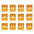 Flat flipped calendar icon