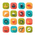 Flat food icon set Stock Photo