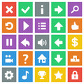 Flat game icons Stock Photography
