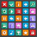 Flat game icons set of for your designs Royalty Free Stock Image