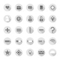 Flat gray icons Royalty Free Stock Photo
