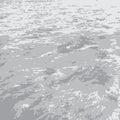 Flat gray sea