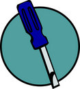 Flat head screwdriver vector illustration Stock Photo
