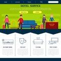 Flat Hotel Web Page Template