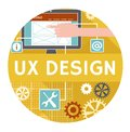 Flat icon or banner for ux design vector concept of Stock Photo