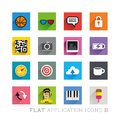 Flat icon designs symbols applications layered vector illustration Stock Photography