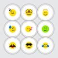 Flat Icon Emoji Set Of Cold Sweat Royalty Free Stock Photo