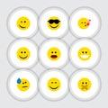 Flat Icon Expression Set Of Hush Royalty Free Stock Photo