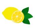 Flat icon lemon