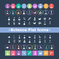 Flat icon science a set of plane icons with symbols of and medicine Stock Photo