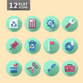 Flat icon set Stock Photography