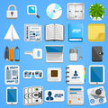 Flat icon set business. Vector