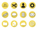Flat icon set of isolated icons buttons in style Royalty Free Stock Images