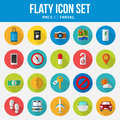 Flat Icon Set pack travel