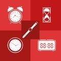 Flat icon set. Time. Clock. Royalty Free Stock Photo