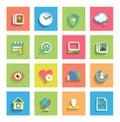 Flat icon set : universal icons