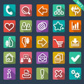 Flat icon set for web Stock Photo