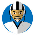 Flat icon of theAmerican football.