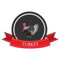 Flat icon Turkey with the name