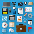 Flat icons bundle business concept vector illustration Royalty Free Stock Images