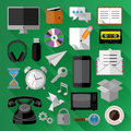 Flat icons bundle business concept vector illustration Royalty Free Stock Photo