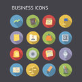 Flat icons for business and finance Royalty Free Stock Image