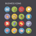 Flat icons for business and finance vector eps with transparency Royalty Free Stock Photography