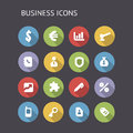 Flat icons for business vector eps with transparency Stock Images