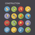 Flat icons for construction industry and vector eps with transparency Royalty Free Stock Photo