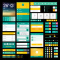 Flat icons and elements for mobile app and web design set of Stock Photo