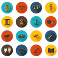 Flat icons imprisonment best in vector format Stock Photos