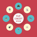 Flat Icons Memorial Day, Identity, Holiday And Other Vector Elements. Set Of Day Flat Icons Symbols Also Includes