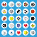 Flat icons and pictograms set vector illustration Royalty Free Stock Image