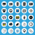 Flat icons and pictograms set vector illustration Stock Photo
