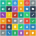 Flat icons set - basic internet & mobile icons set Royalty Free Stock Photo