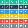 Flat icons set basic internet mobile icons set app Royalty Free Stock Photos