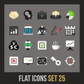 Flat icons set business and company Stock Photos