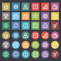 Flat icons set business finance illustration format eps Stock Photo