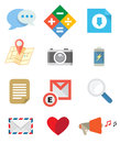 Flat icons set can use for business multimedia mobile Stock Photo
