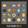 Flat icons set game collection Stock Photos