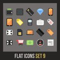 Flat icons set shopping and finance collection Royalty Free Stock Photo