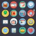 Flat icons set for web and applications Stock Images